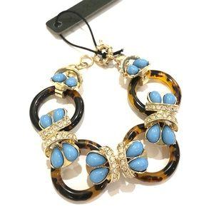 J. CREW tortoise & turquoise bracelet NWT